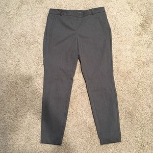 The Limited gray skinny dress pants, exact stretch